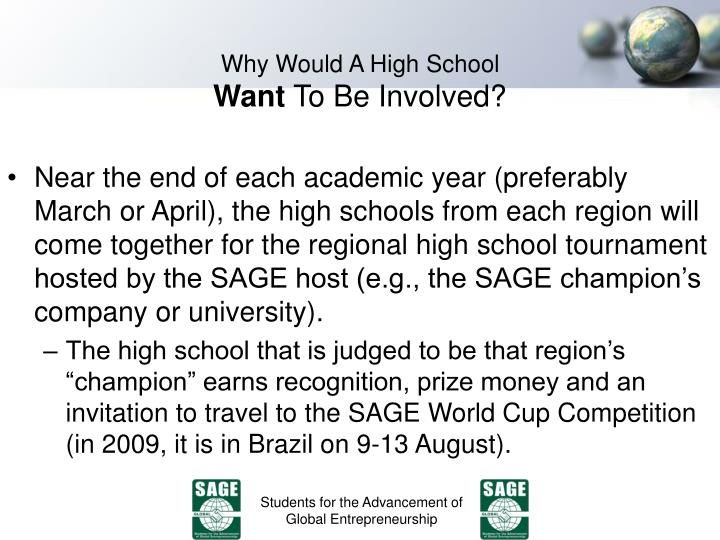 Why Would A High School