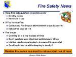 fire safety news