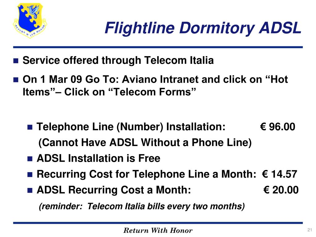 Flightline Dormitory ADSL