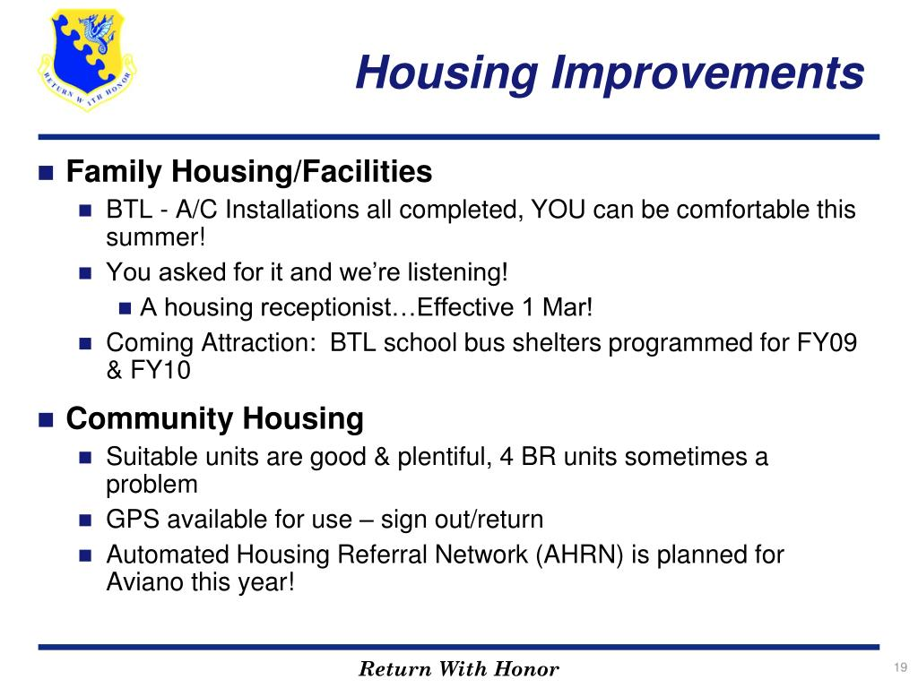 Housing Improvements