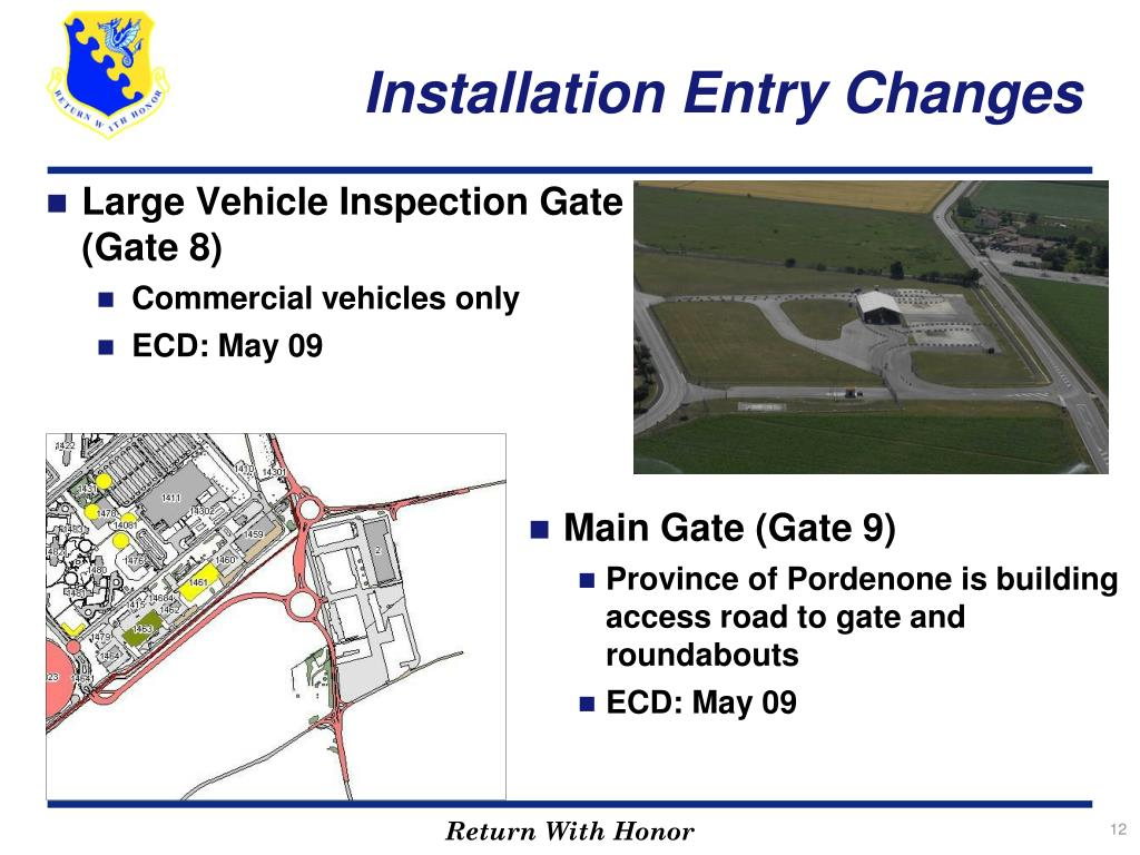 Large Vehicle Inspection Gate (Gate 8)