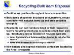 recycling bulk item disposal