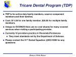 tricare dental program tdp