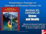 section vi concept 16 stress and health