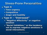 stress prone personalities