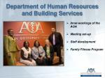 department of human resources and building services