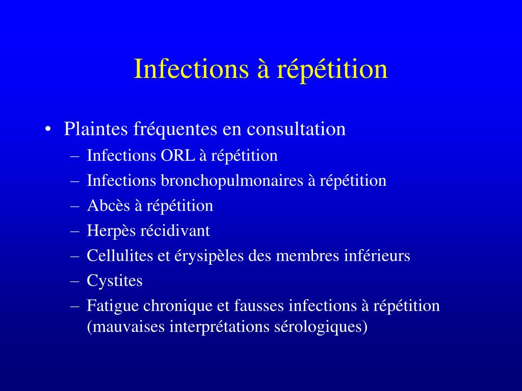 Infections à répétition
