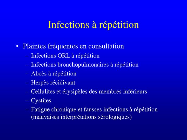 Infections r p tition