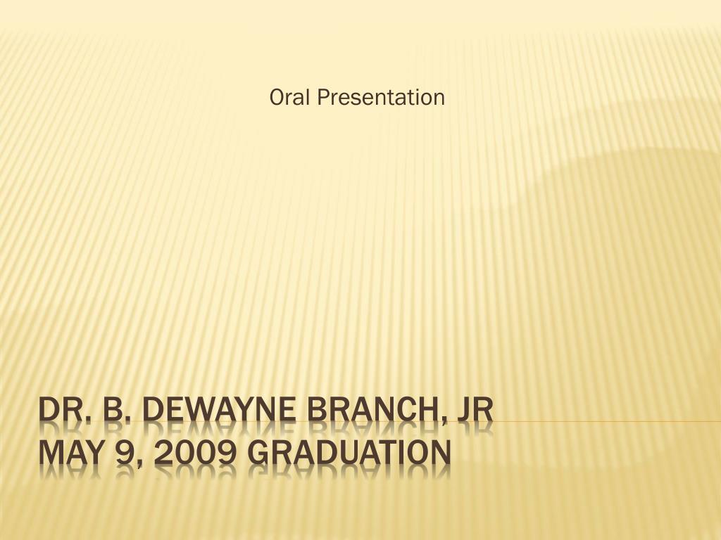 oral presentation l.