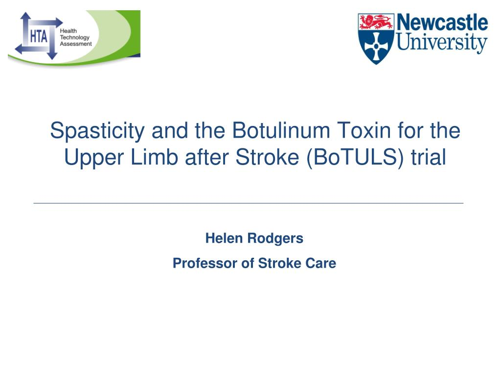 PPT - Spasticity and the Botulinum Toxin for the Upper Limb
