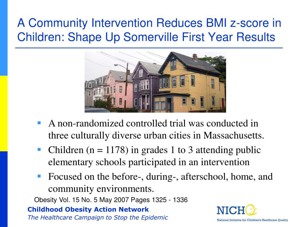 A Community Intervention Reduces BMI z-score in Children: Shape Up Somerville First Year Results