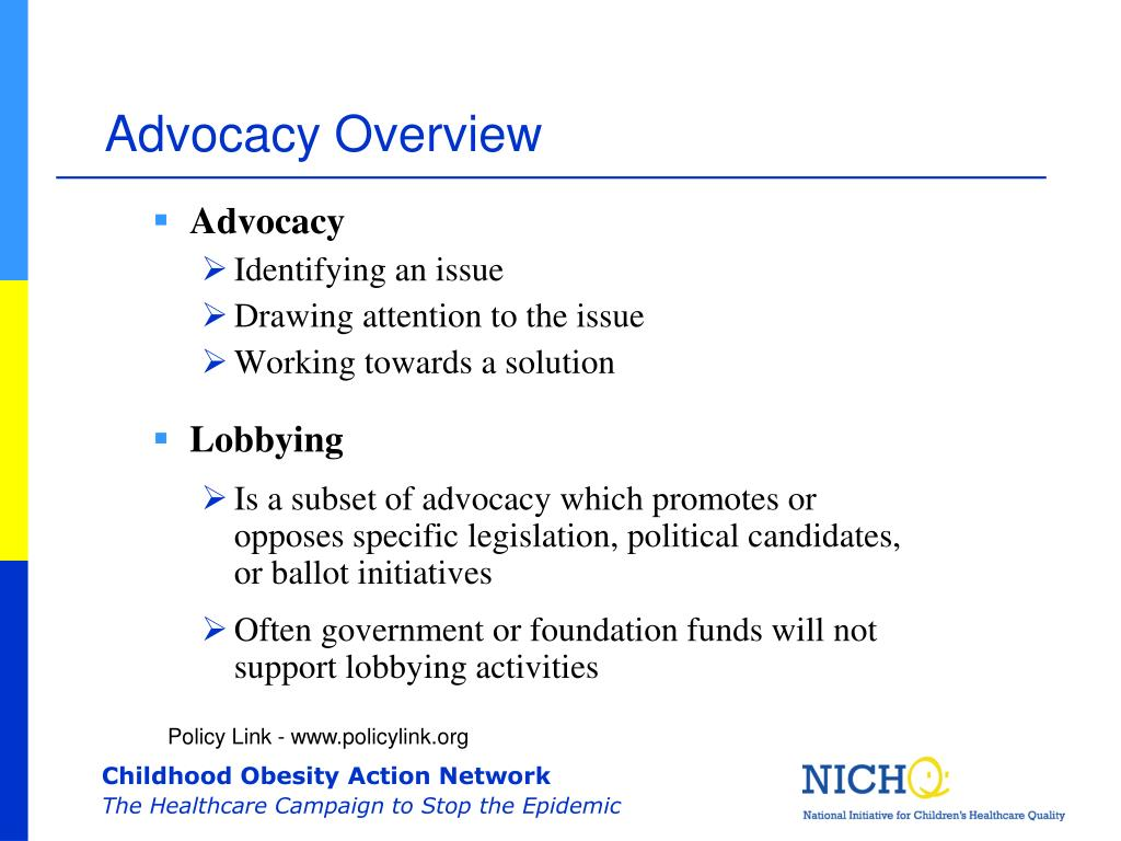 Advocacy Overview