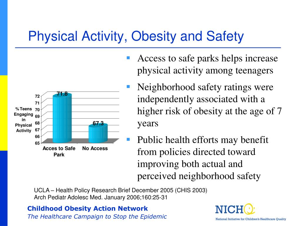 Physical Activity, Obesity and Safety
