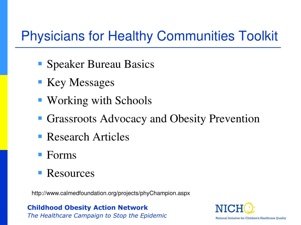Physicians for Healthy Communities Toolkit