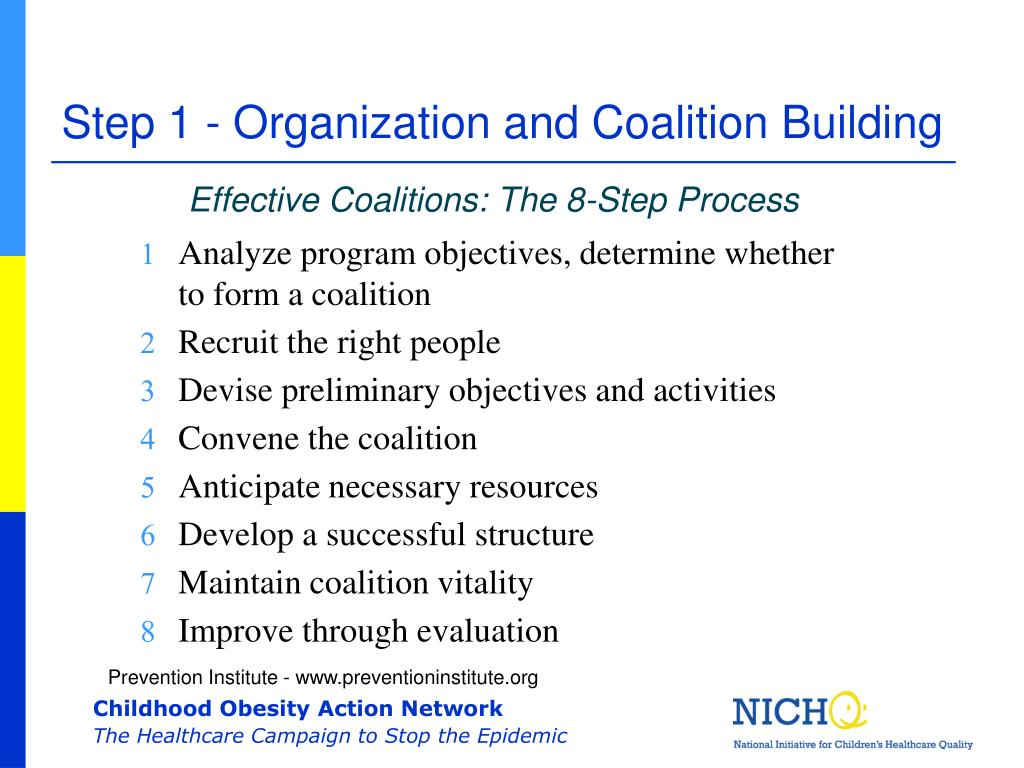 Step 1 - Organization and Coalition Building
