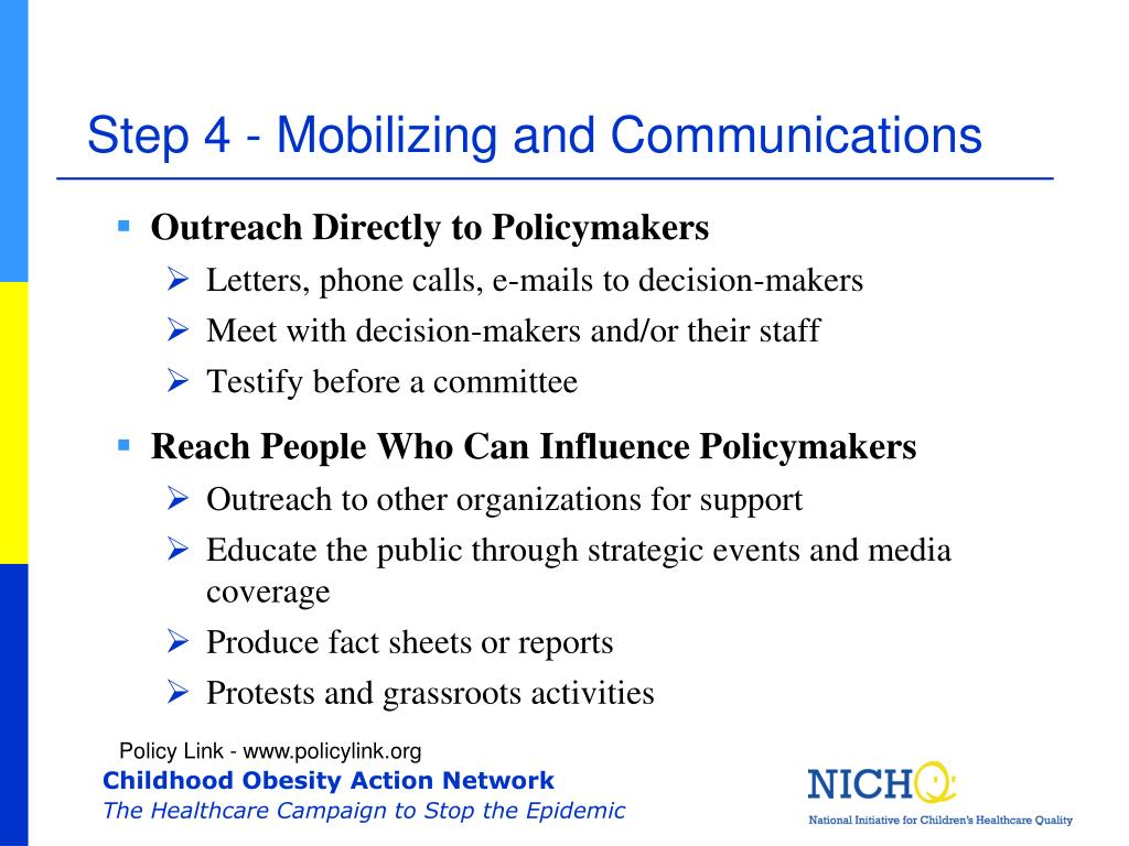 Step 4 - Mobilizing and Communications