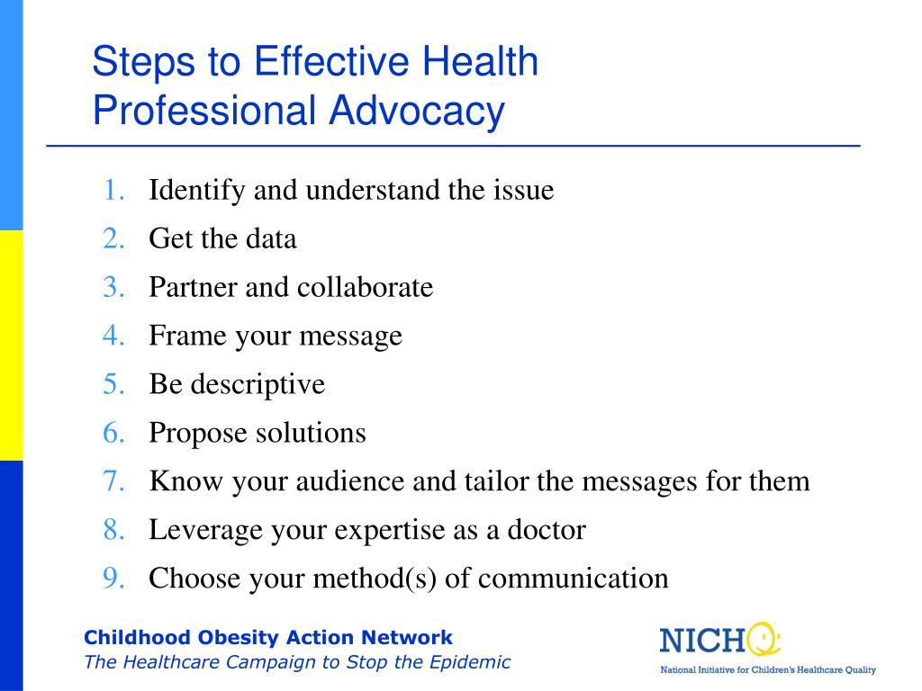 Steps to Effective Health Professional Advocacy