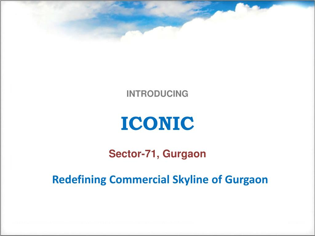 introducing iconic sector 71 gurgaon l.