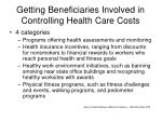 getting beneficiaries involved in controlling health care costs