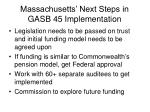 massachusetts next steps in gasb 45 implementation