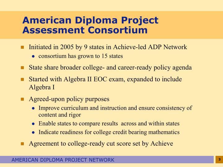 American diploma project assessment consortium