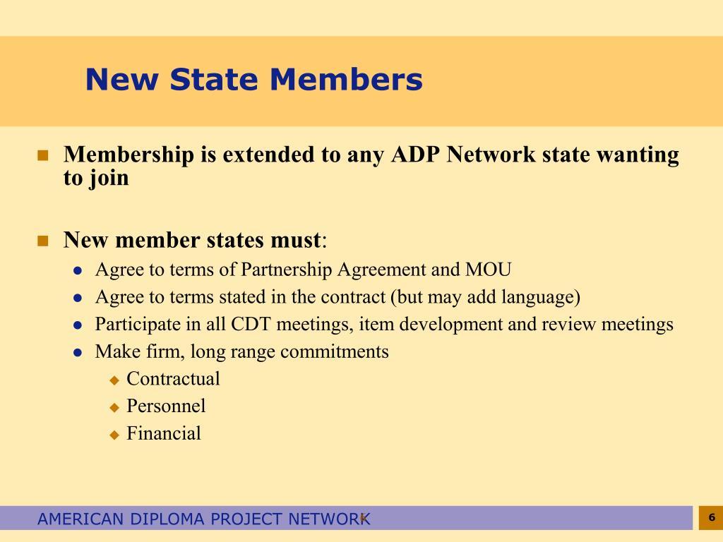 New State Members