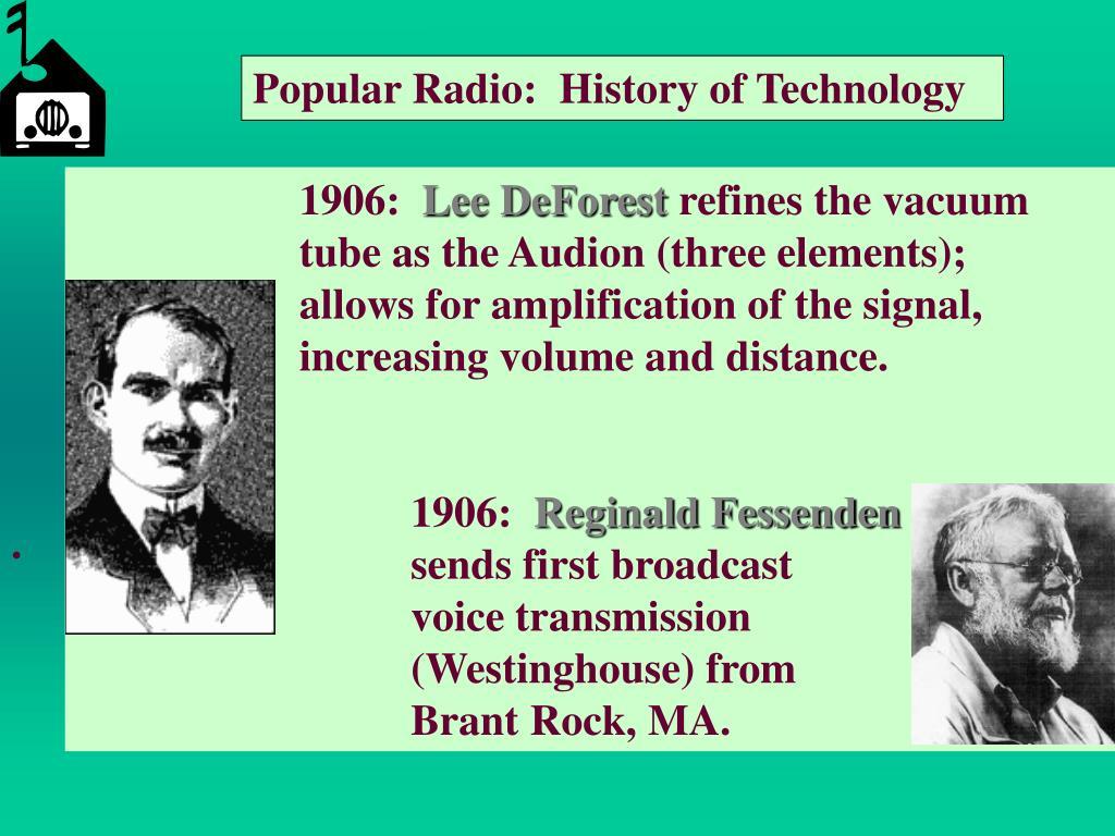 Popular Radio:  History of Technology