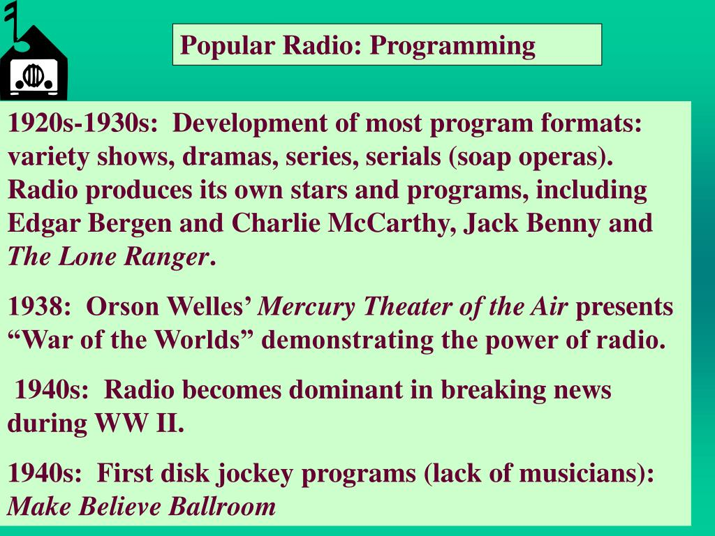 Popular Radio: Programming