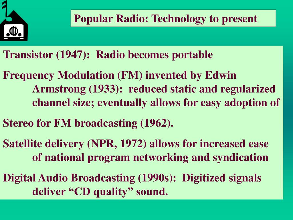 Popular Radio: Technology to present