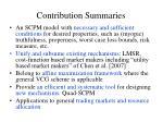 contribution summaries