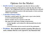 options for the market