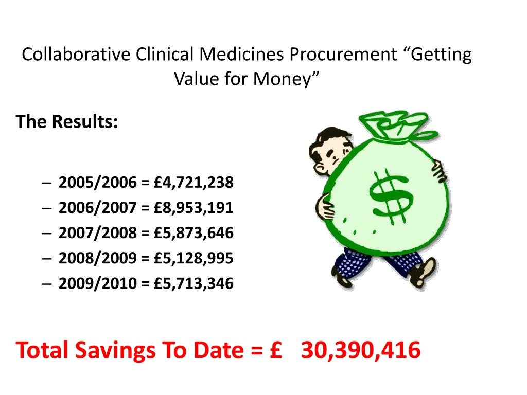"""Collaborative Clinical Medicines Procurement """"Getting Value for Money"""""""