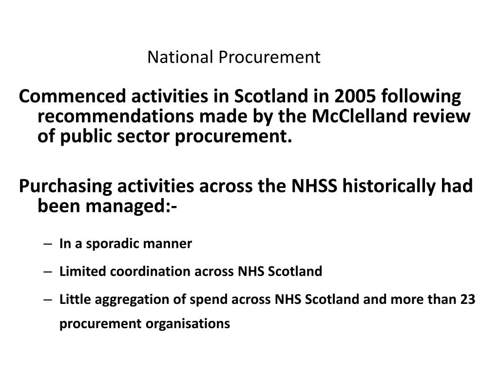 National Procurement