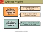syndicated programs
