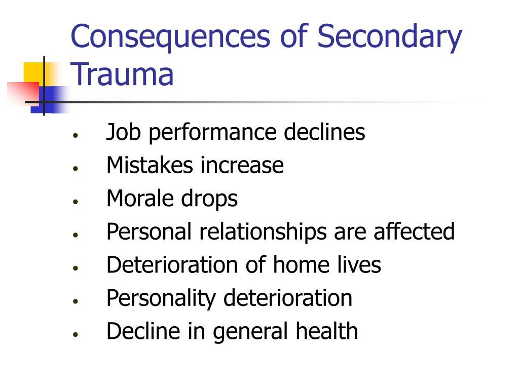 Consequences of Secondary Trauma