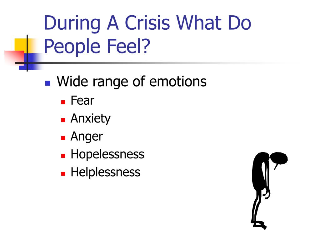 During A Crisis What Do People Feel?
