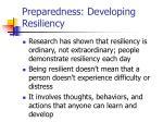 preparedness developing resiliency24