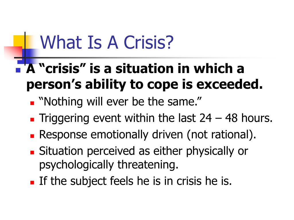 What Is A Crisis?