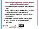 top 10 ways to promote positive mental health in adult education12