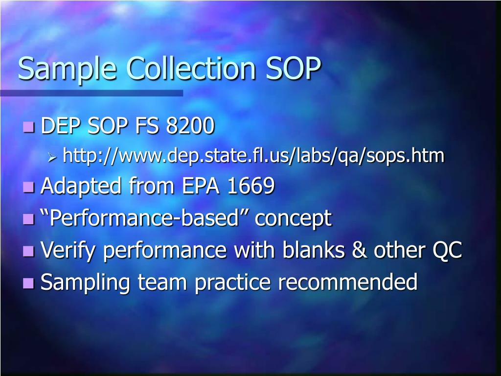 Sample Collection SOP