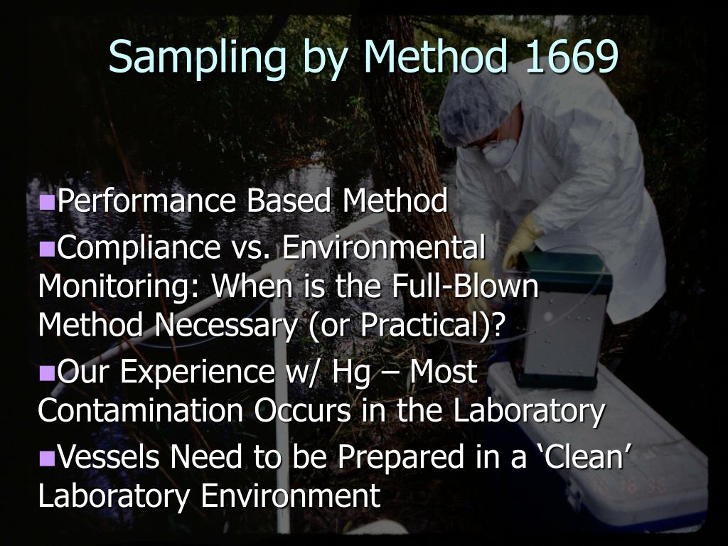 Sampling by Method 1669