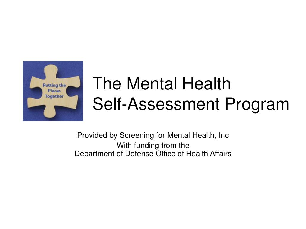 the mental health self assessment program l.