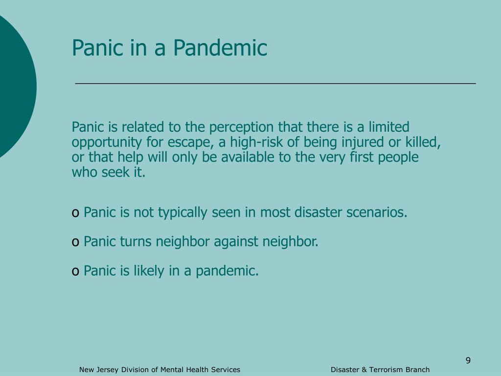Panic in a Pandemic