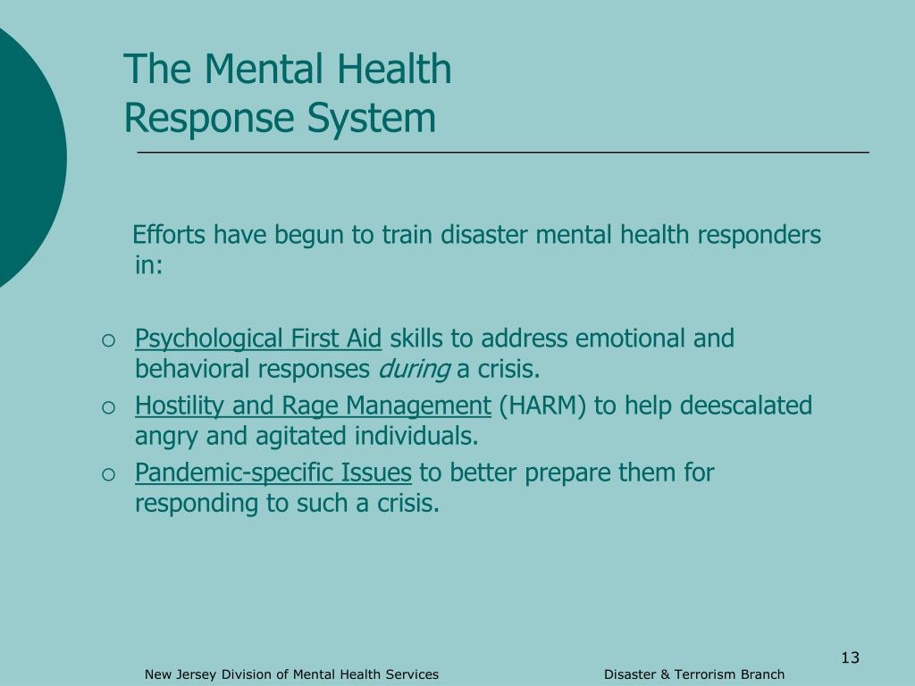 The Mental Health Response System