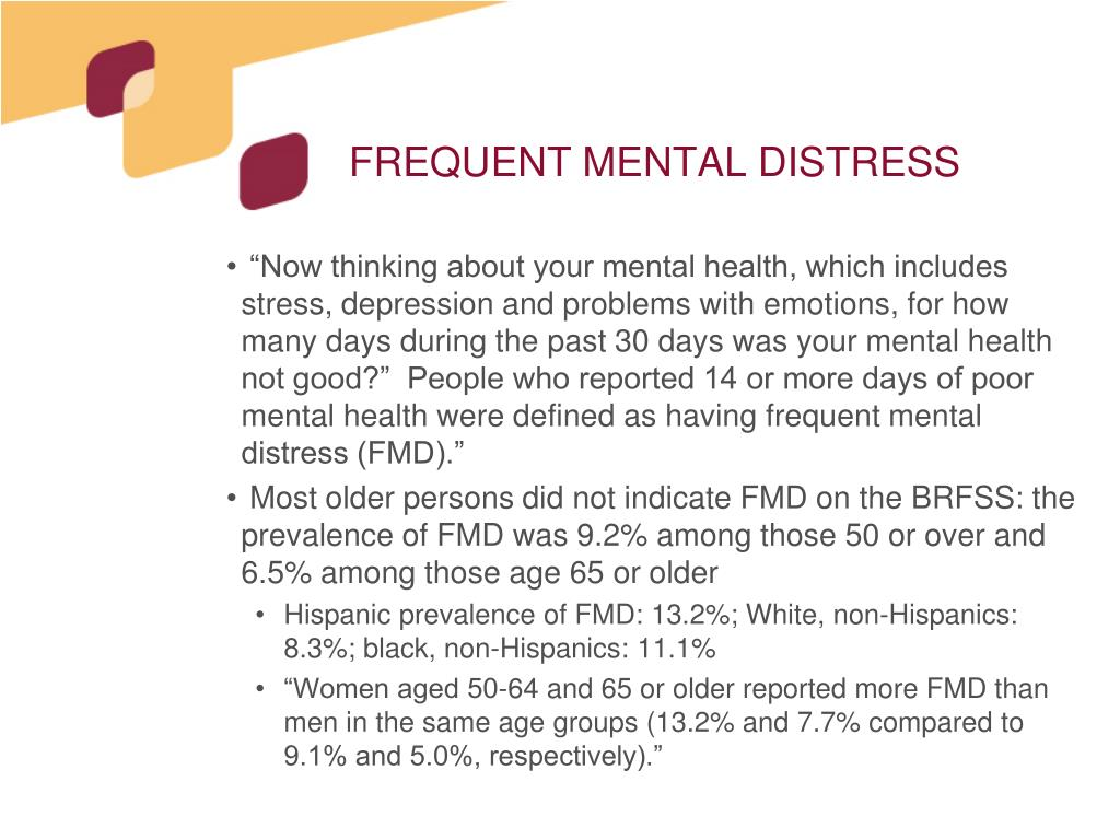 FREQUENT MENTAL DISTRESS
