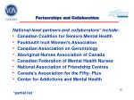 partnerships and collaboration