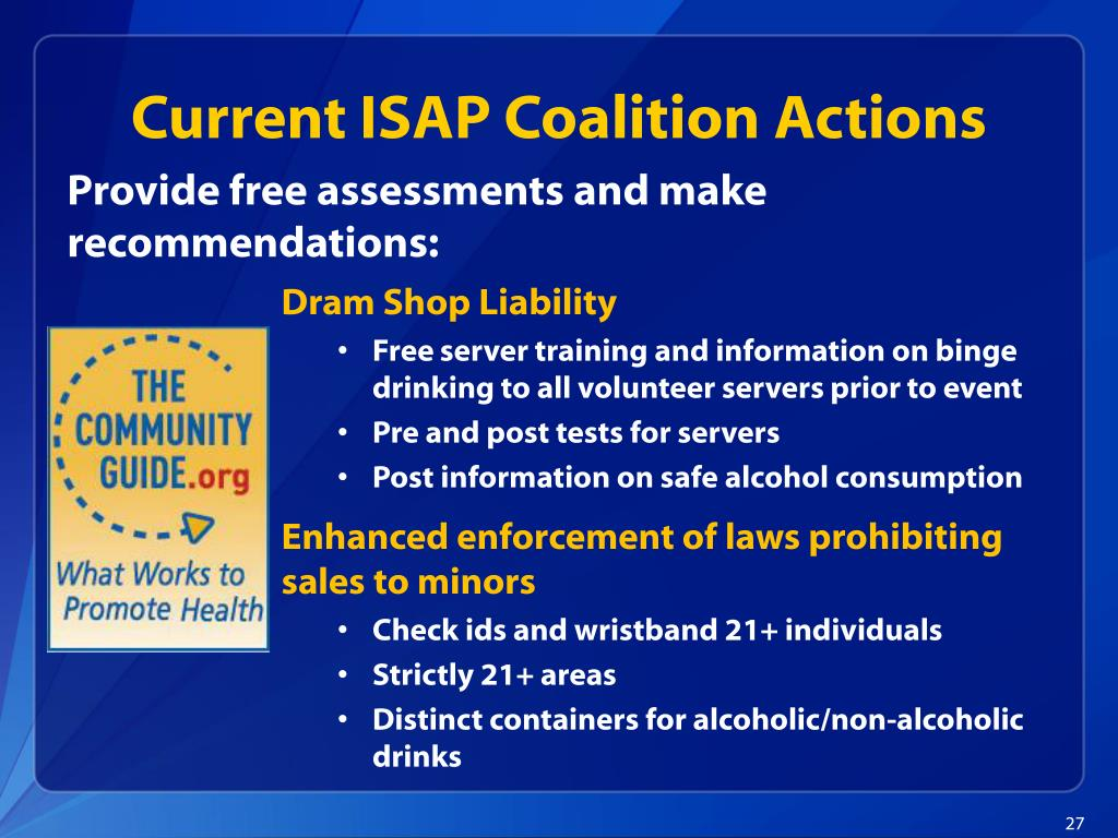 Current ISAP Coalition Actions