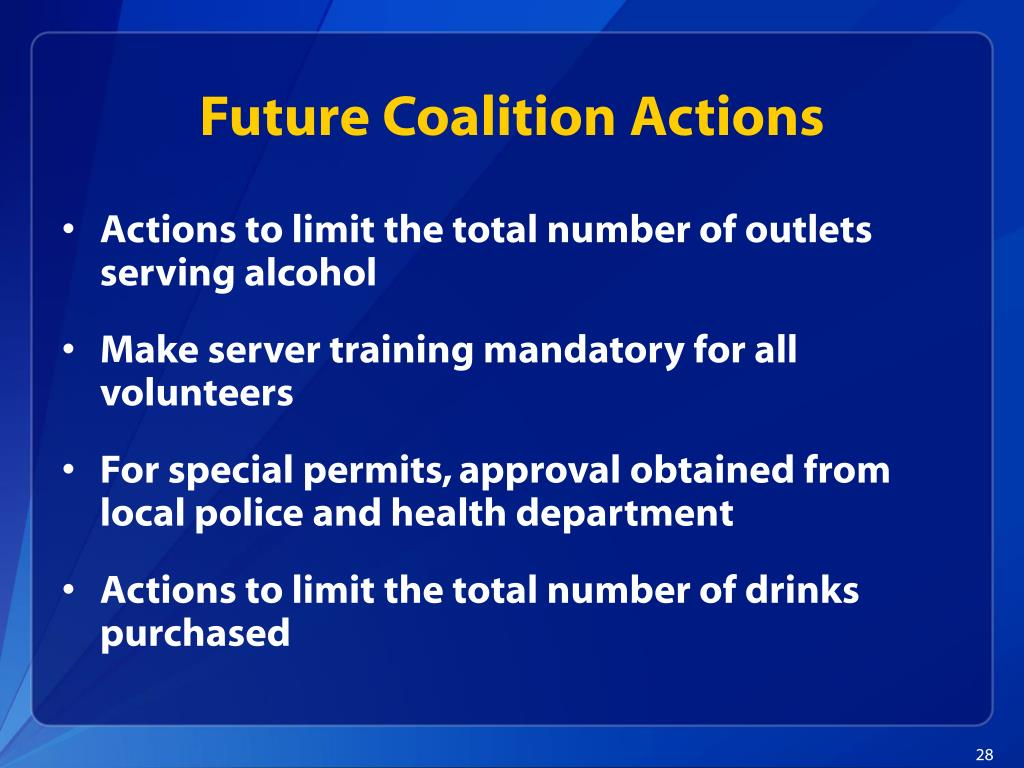 Future Coalition Actions