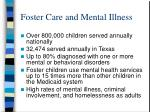 foster care and mental illness
