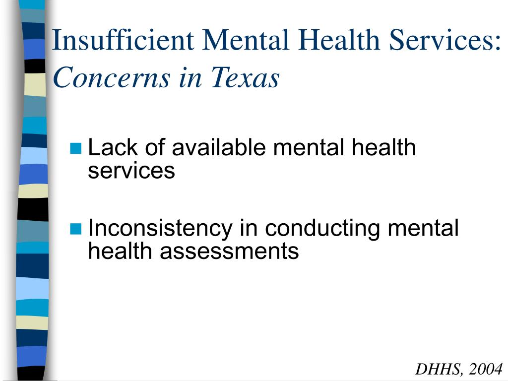 Insufficient Mental Health Services:
